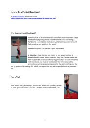 How to Do a Perfect Handstand