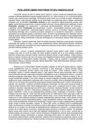 poslijediplomski doktorski studij kineziologije - Kineziološki fakultet