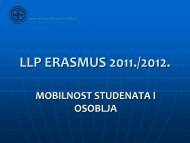 LLP ERASMUS 2011 - razmjena studenata prezentacija