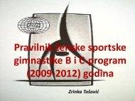 Pravilnik ženske sportske gimnastike B i C-program (2009-2012 ...