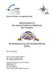 Abschlussbericht - KiFa - Kinder- und Familienbildung