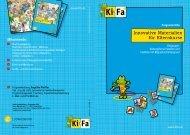 Innovative Materialien für Elternkurse - KiFa - Kinder- und ...