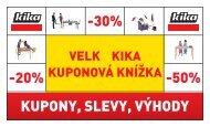 -20% KUPONY, SLEVY, VÝHODY -50% -30% - Kika