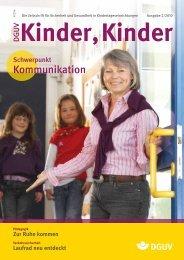 Ausgabe 2 2010 - DGUV Kinder, Kinder