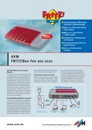 AVM FRITZ!BOX FON ATA WINDOWS XP DRIVER DOWNLOAD