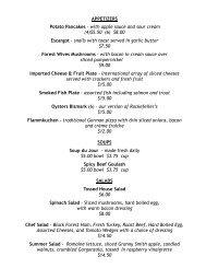 Dinner Menu (pdf) - Killmeyers