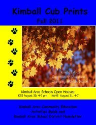 Kimball Cub Prints - Kimball Area Public Schools