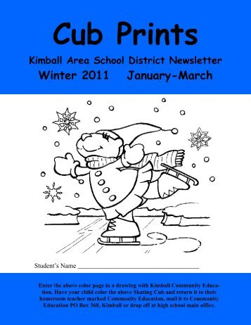 winter 10-11 final copy - Kimball Area Public Schools