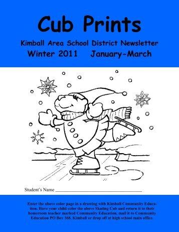 winter 10-11 final copy - Kimball Area Public Schools