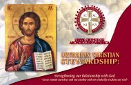 OrthOdOx Christian stewardship: