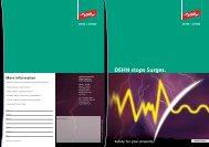 Brochure Dehn stops surges - Dehn + Söhne Blitzschutzsysteme