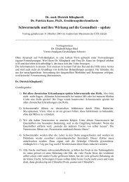 Amalgam - Schwermetallausleitung nach Dr. med. Dietrich Klinghardt