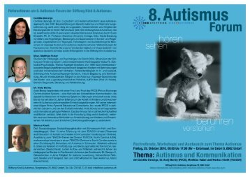 Referentinnen am 8. Autismus-Forum der Stiftung Kind & Autismus: