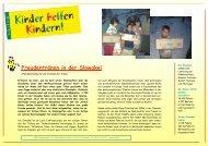 KhK Bericht 07 Slowakei - Kinder helfen Kindern