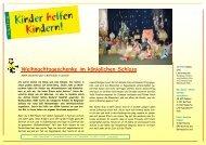 KhK Bericht 07 Serbien - Kinder helfen Kindern
