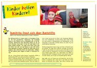 KhK Bericht 07 Rumaenien - Kinder helfen Kindern
