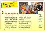 KhK Bericht 07 Ukraine - Kinder helfen Kindern