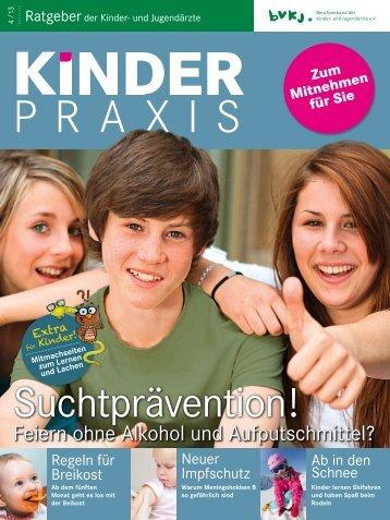 Suchtprävention! - Kinder- & Jugendärzte im Netz