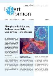 Allergische Rhinitis und Asthma bronchiale - Dr. Peter Voitl