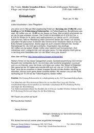 Generalversammlung - Verein Kinder brauchen Eltern