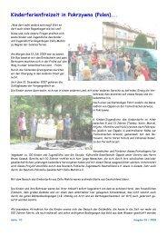 Kinderferienfreizeit in Pokrzywna (Polen)... - Kinder- und Jugenddorf ...