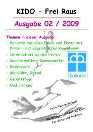 Ausgabe 02 / 2009 KIDO - Frei Raus - Kinder- und Jugenddorf ...