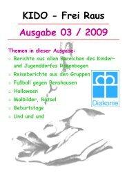 Ausgabe 03 / 2009 KIDO - Frei Raus - Kinder- und Jugenddorf ...