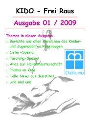 Ausgabe 01 / 2009 KIDO - Frei Raus - Kinder- und Jugenddorf ...