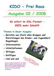 Ausgabe 02 / 2008 KIDO - Frei Raus - Kinder- und Jugenddorf ...