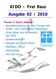 Ausgabe 02 / 2010 KIDO - Frei Raus - Kinder- und Jugenddorf ...