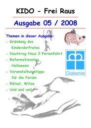 Ausgabe 05 / 2008 KIDO - Frei Raus - Kinder- und Jugenddorf ...