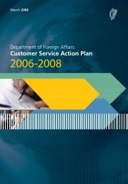 Customer Service Action Plan - Department of Foreign Affairs