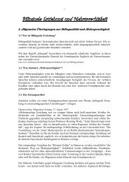 Bilinguale Erziehung und Mehrsprachigkeit - Kindergarten-Homepage