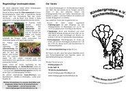 Regelmäßige Vereinsaktivitäten Der Verein - Kindergruppe ...