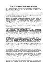 Kurzer Kongressbericht zum 5. Berliner Symposium