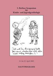 5. Berliner Symposium für Kinder- und Jugendgynäkologie
