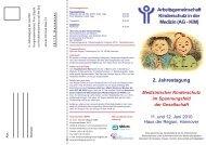 2. Jahrestagung - Arbeitsgemeinschaft Kinder