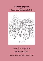 und Jugendgynäkologie - Arbeitsgemeinschaft Kinder