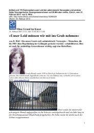 Artikel auf 20 Minuten online. Zürich, 21. Februar 2013, mit 170 ...
