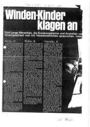Windenkinder klagen an. Artikel aus der Illustrierten Sie+Er, 16. April ...