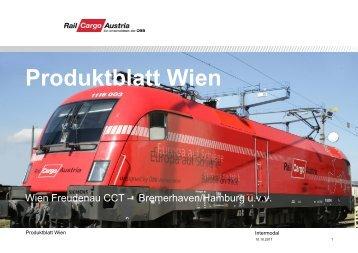 Produktblatt Wien