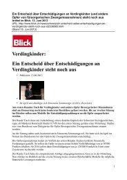 Artikel im Blick, Zürich, vom 14.Juni 2013 als PDF - Kinderheime in ...