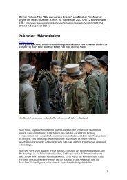 Artikel im Tagesanzeiger, Zürich, 30. September 2014, PDF
