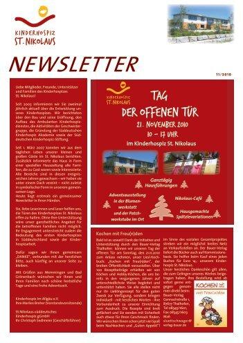 Newsletter 10/2010 als PDF-Dokument - Kinderhospiz St. Nikolaus