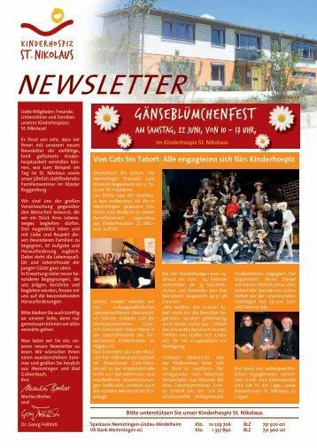Newsletter 05/2013 - Kinderhospiz St. Nikolaus