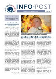 Download der Infopost Nr. 51 - Kinderhospiz Löwenherz