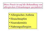 Allergisches Asthma Heuschnupfen Neurodermitis Nahrungsallergien