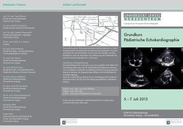 Grundkurs Pädiatrische Echokardiographie