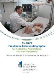 15. Kurs Praktische Echokardiographie