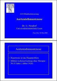 Aortenisthmustenose Aortenisthmusstenose